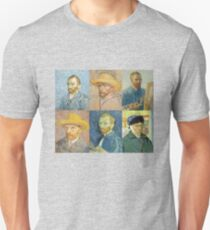 Vincent Van Gogh Self Portraits Unisex T-Shirt