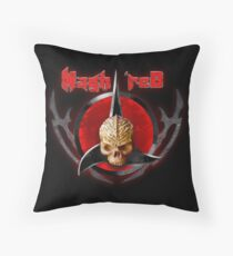 house of Nagh rEd Throw Pillow