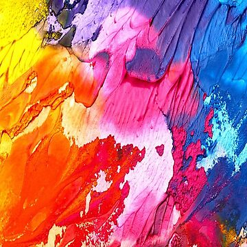 Colorful Paint Texture Pink Blue Red Yellow Purple by longdistgramma
