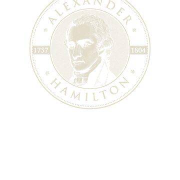 Alexander Hamilton Bust authentic original vintage portrait t-shirt - For Men, Women & Kids by T-Heroes