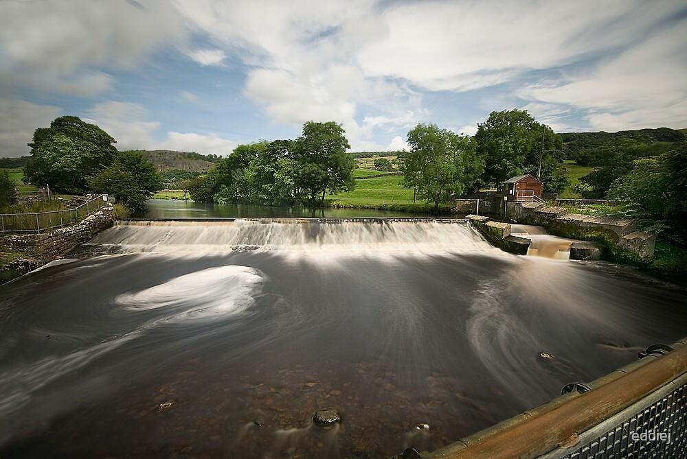 Langcliffe Weir by eddiej