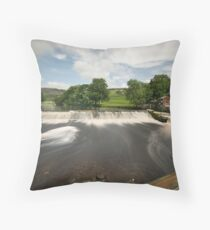 Langcliffe Weir Throw Pillow