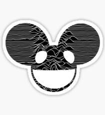 Deadmau5 meets Joy Division with Unknown Pleasures Mousehead Sticker