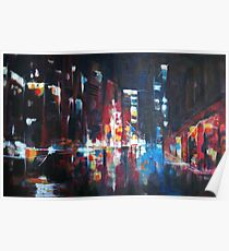 New York 2009. Abstract Skyline Painting Poster