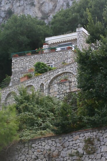 Italian Stone House on the Hill by csegalas
