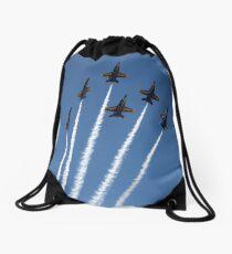 Blue Bouqet Drawstring Bag