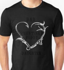 edb8393d Dad daughter hunting shirt buddy for life shirt Slim Fit T-Shirt