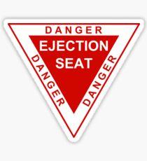 Danger Ejection Seat Sticker
