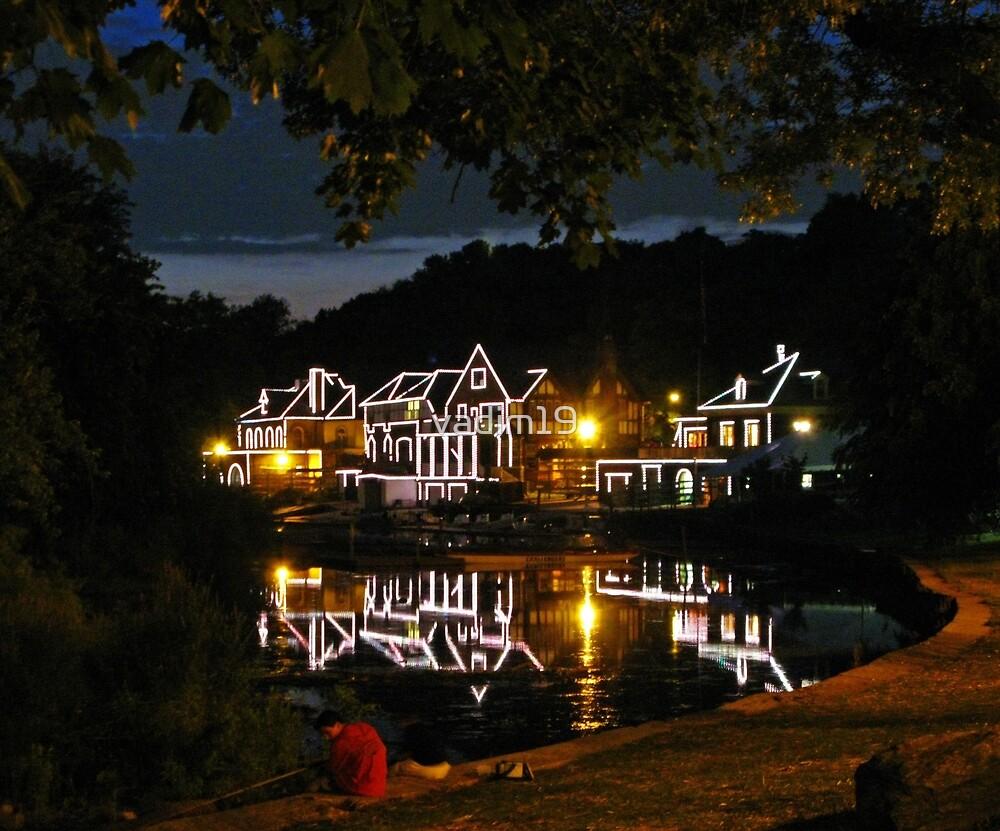 Boathouse Row in Black. Philadelphia, Pennsylvania by vadim19