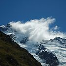 Clouds, Snow and Mountain in New Zealand by Guilherme Pontes