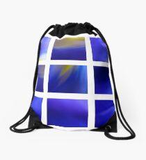 Dark Blue Dutch Iris Drawstring Bag