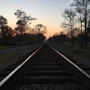 Sunset on Train Tracks by 13666
