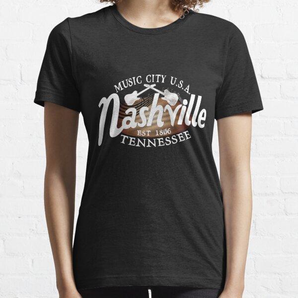 Nashville TN Tshirt Vintage Music City USA EST 1806 Gift Essential T-Shirt