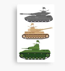 Battle Tanks Canvas Print