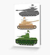 Battle Tanks Greeting Card