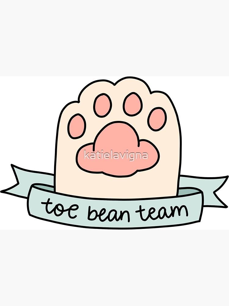 toe bean team by katielavigna