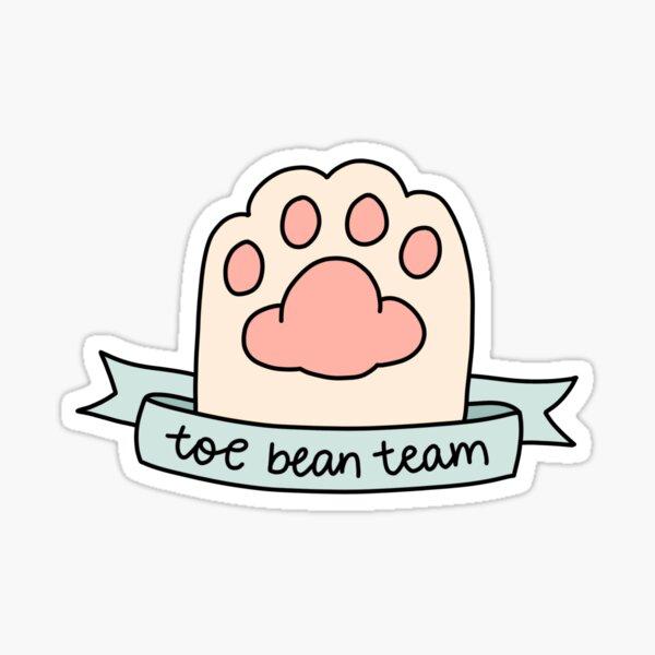 toe bean team Sticker