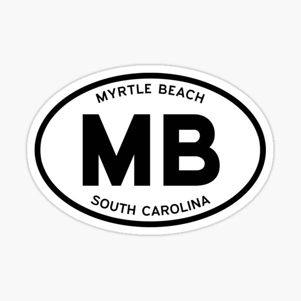MB, Myrtle Beach, South Carolina Sticker