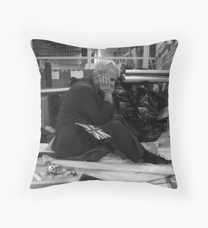 The Bankers Demise Throw Pillow