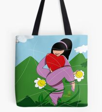 Dance with flowers Tote Bag
