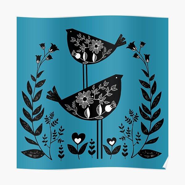 Danish Birds Bring Good Luck And A Good Life Art Print Poster