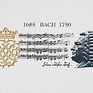 Johann Sebastian Bach, with notes and monogram by edsimoneit