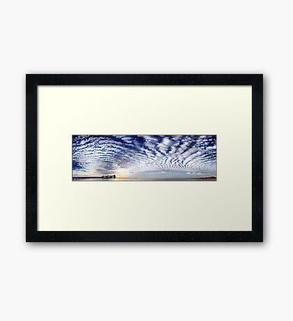 Kwinana Sky (Multi Row Panorama!)   Framed Print
