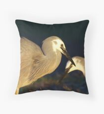 two herons Throw Pillow