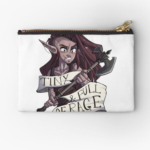 Tiny and Full of Rage Zipper Pouch