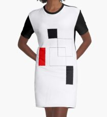 shape and line Graphic T-Shirt Dress
