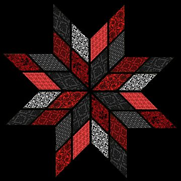 Quilt Design - Red, Black and White by JaMiHo1981
