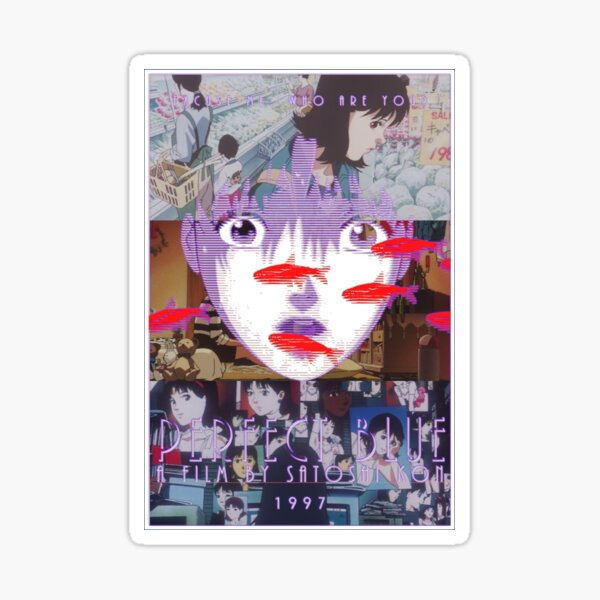 Perfect Blue Satoshi Kon Animated Film Collage Sticker