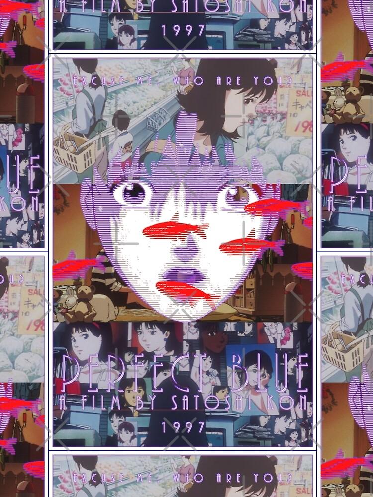 Perfekte blaue Satoshi Kon Animationsfilm-Collage von TopNotchRamen