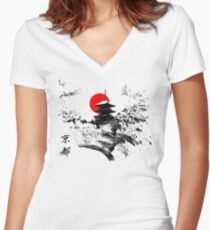 Kyoto Japan Old Capital Women's Fitted V-Neck T-Shirt