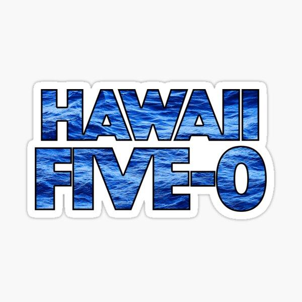 Hawaii Five-0. La superposición de olas oceánicas agrega el toque perfecto Pegatina