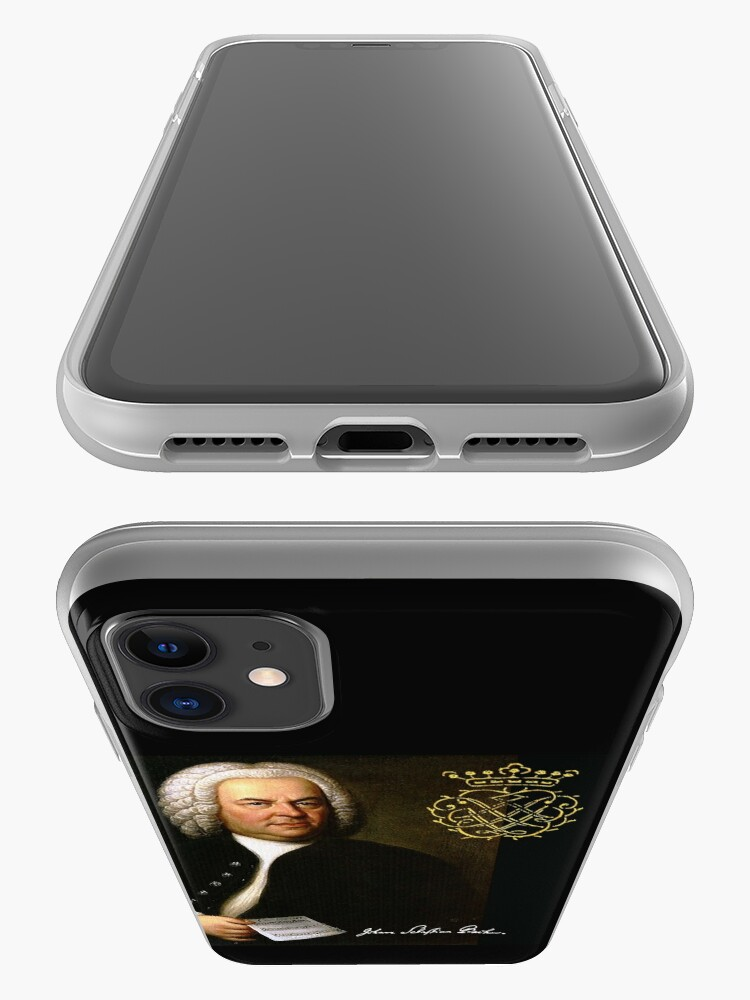 Alternate view of Bach with his Monogram iPhone Case & Cover