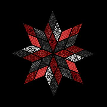 Red, Black and White Quilt Design by JaMiHo1981