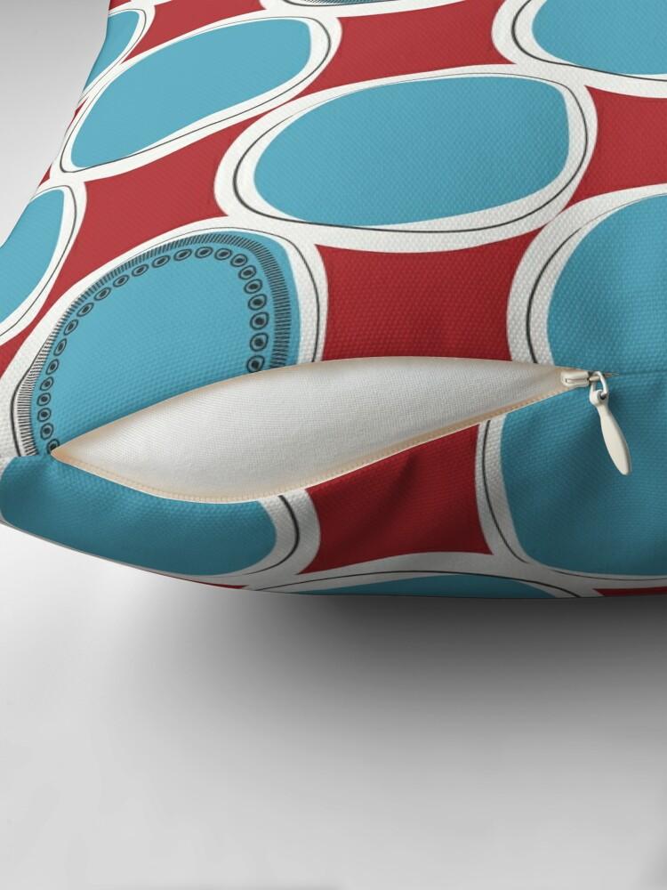 Alternate view of MCM-Circles Throw Pillow