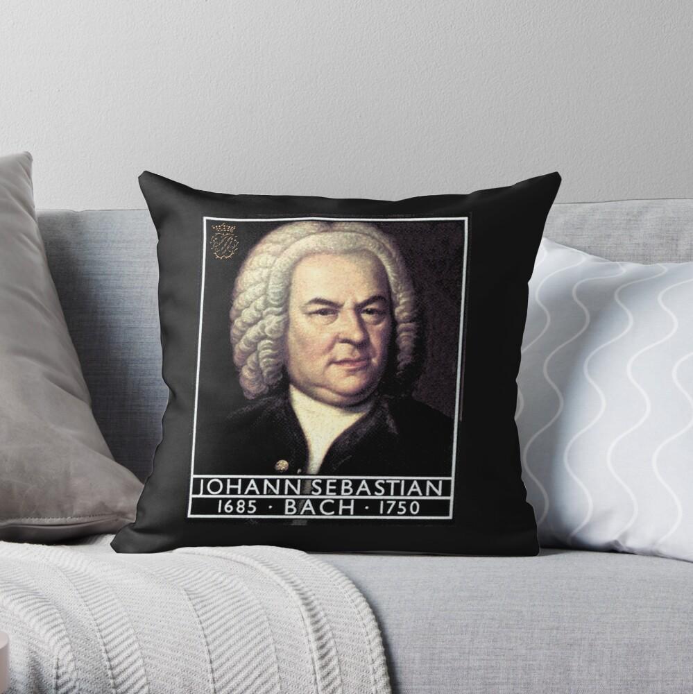Johann Sebastian Bach, Portrait  Throw Pillow