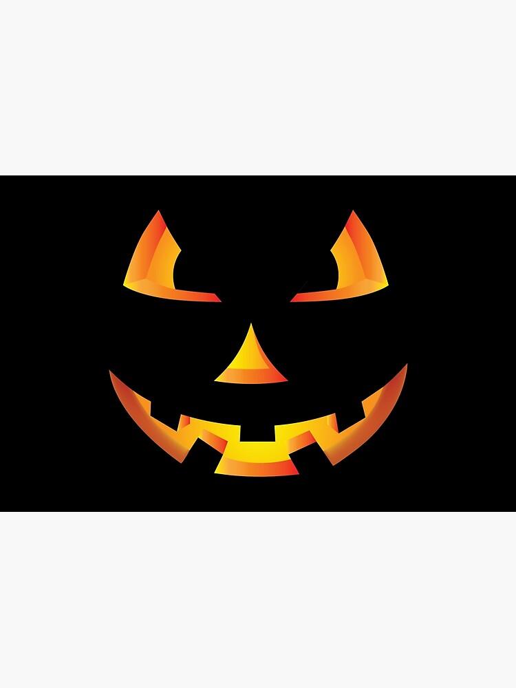 Scary Pumpkin Eyes Halloween Jack O Lantern T Shirt Laptop Skin By Tronictees Redbubble