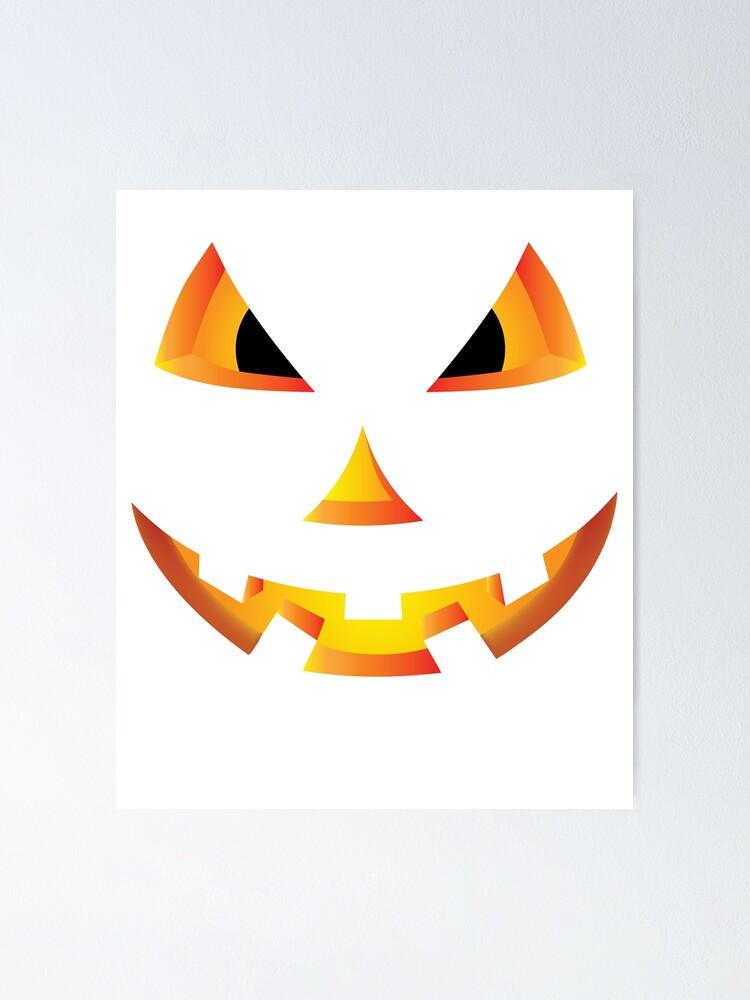 Scary Pumpkin Eyes Halloween Jack O Lantern T Shirt Poster By Tronictees Redbubble