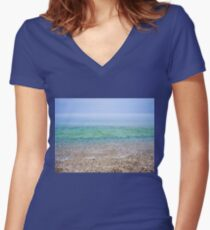 Tranquil Beach Women's Fitted V-Neck T-Shirt
