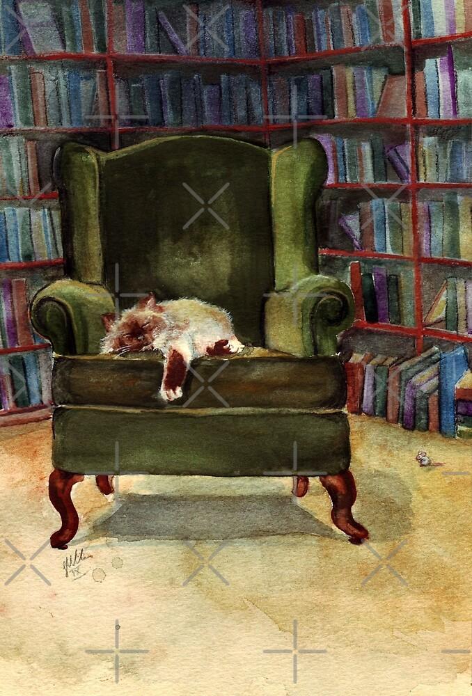 Monkey's Library by Sarah  Mac Illustration