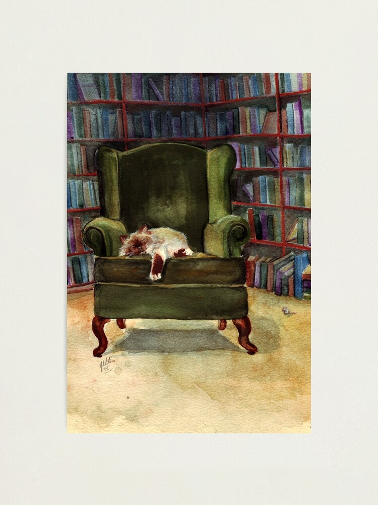 Alternate view of Monkey's Library Photographic Print