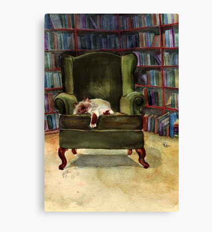 Monkey's Library Canvas Print