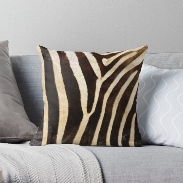 Zebra - Animal Textures Throw Pillow