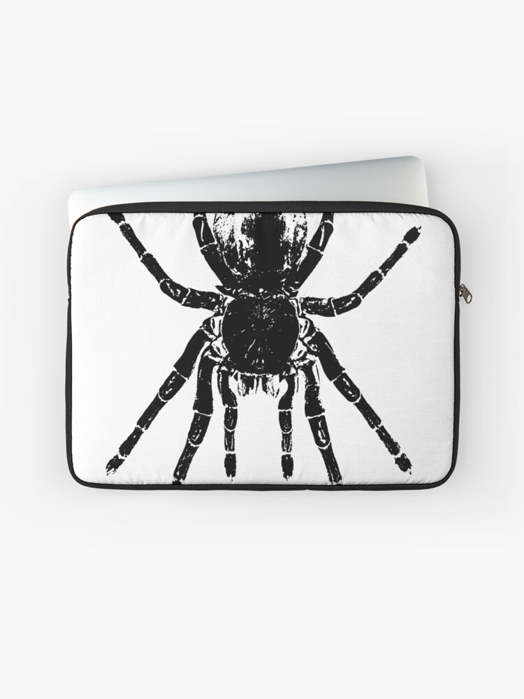 0fdfd222 Scary Tarantula Spider Halloween Black Arachnid T-Shirt Laptop Sleeve