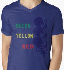 Traffic Light Men's V-Neck T-Shirt