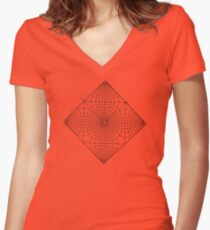 Music Of The Spheres Women's Fitted V-Neck T-Shirt