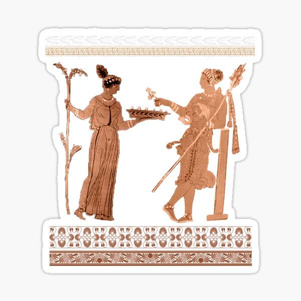 Greek Red Figure Blackware  Sticker